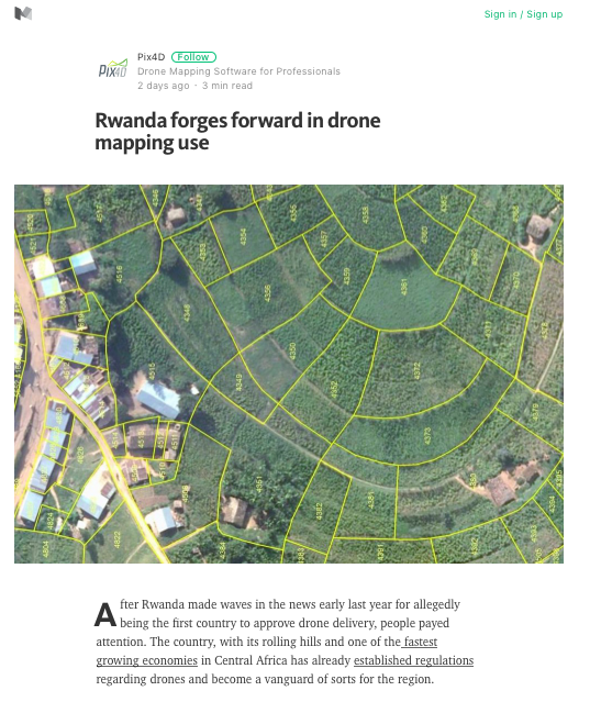 Rwanda forges forward in drone mapping use' (uSAS News
