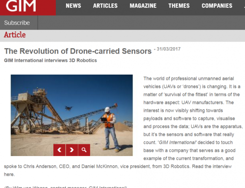 The Revolution of Drone-carried Sensors (GIM International)