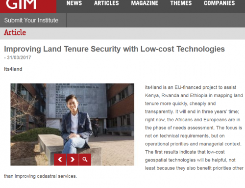 Improving Land Tenure Security with Low-cost Technologies (GIM International)