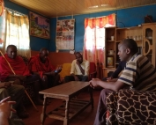 Post data collection debrief with one of the Maasai families.