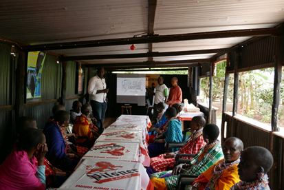 Figure 3: Community meetings in Robit Bata, Ethiopia and Kajiado, Kenya respectively