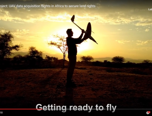 its4land video about UAV data acquisition flights in Africa to secure land rights online